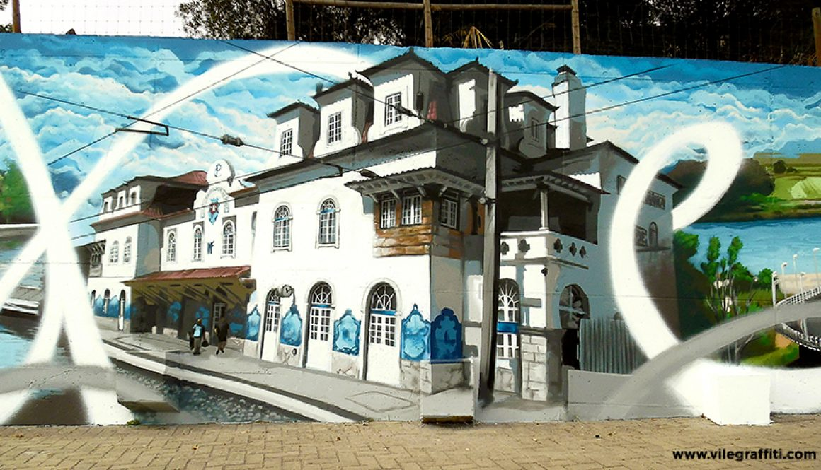 Mural da Cidade Vila Franca de Xira – Estação de comboios