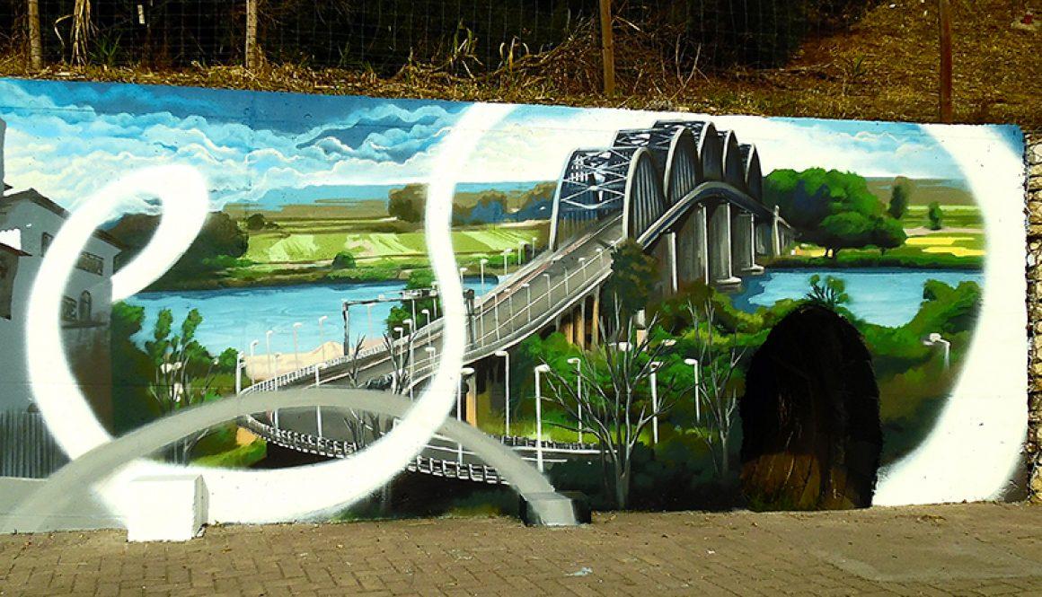 Mural da Cidade Vila Franca de Xira – Ponte sobre o Tejo Marechal Carmona