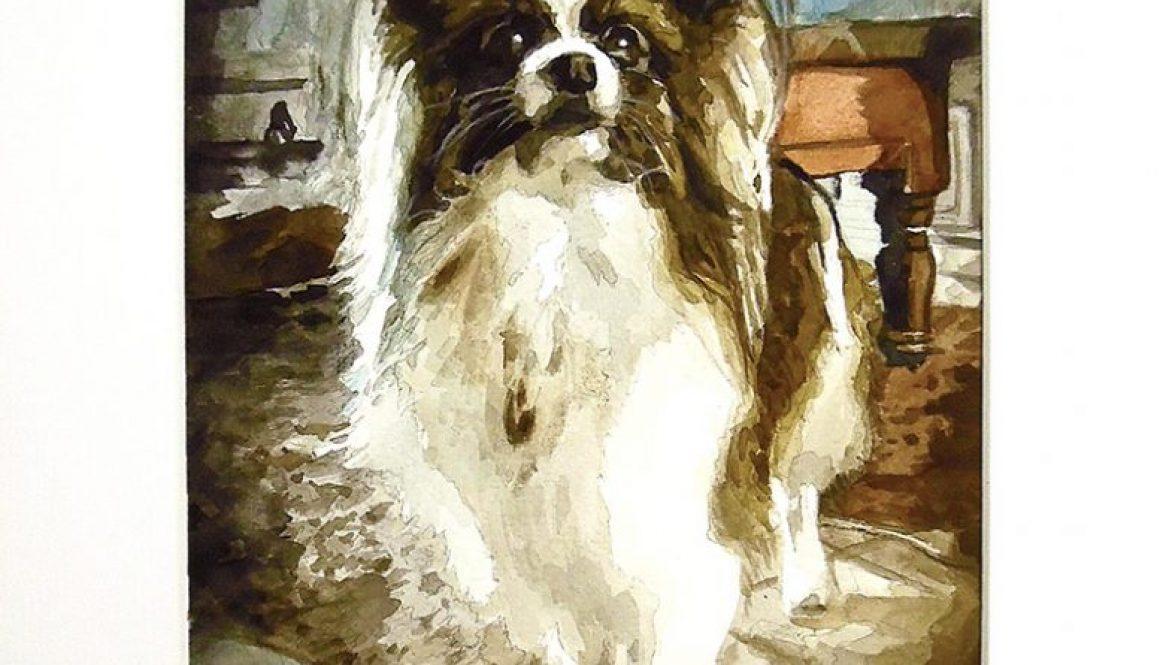 Portrait – Watercolor dog