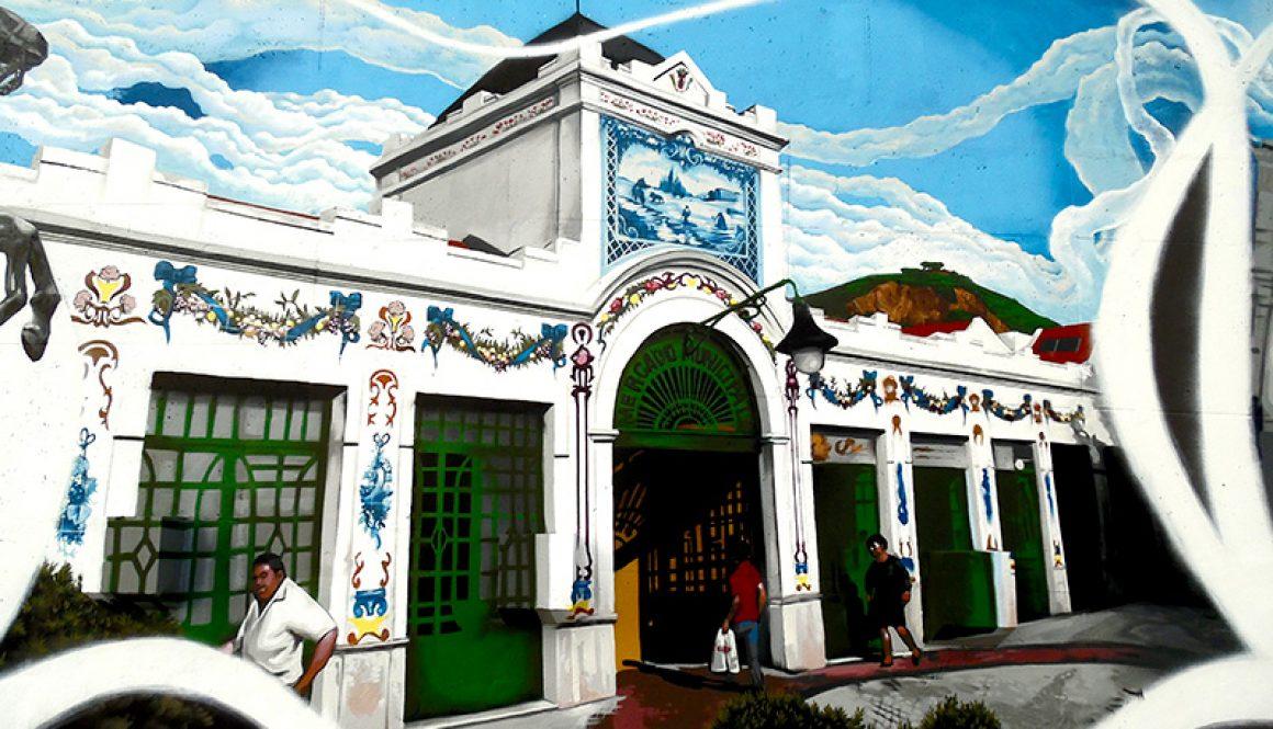 Mural da Cidade Vila Franca de Xira – Mercado Municipal