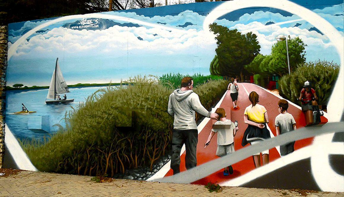 Mural da Cidade Vila Franca de Xira – Passeio Ribeirinho Vila Franca a Alhandra