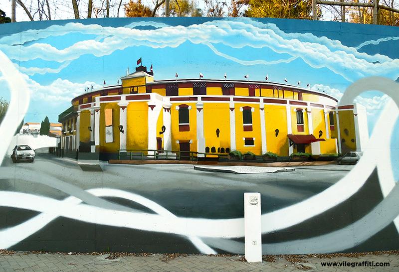 2016_VILE_Mural_da_Cidade_Vila_Franca_de_Xira_Praça_de_touros_Palha_Blanco_